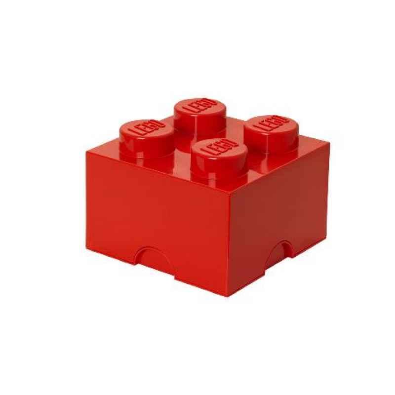 LEGO Aufbewahrungsstein 4 rot