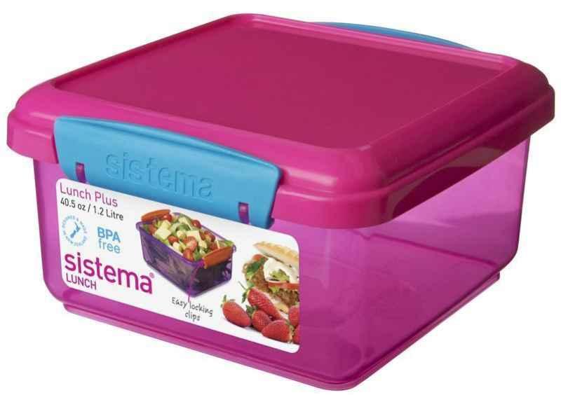 Lunchbox pink/blau 1,2 l