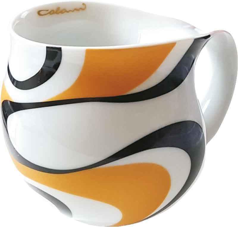 Colani Kaffeebecher wave gold & schwarz