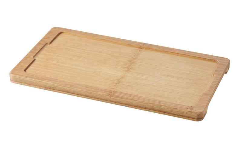 HOLZTABLETT/ HOLZBRETT 34 x 19,5 cm FUER TELLER/ PLATTE/ STEAKTELLER 30 x 16 cm Bambus