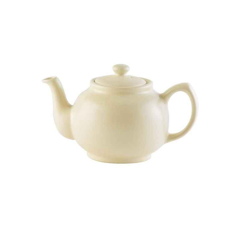 Teekanne 450 ml Steingut matt creme, für 2 Tassen