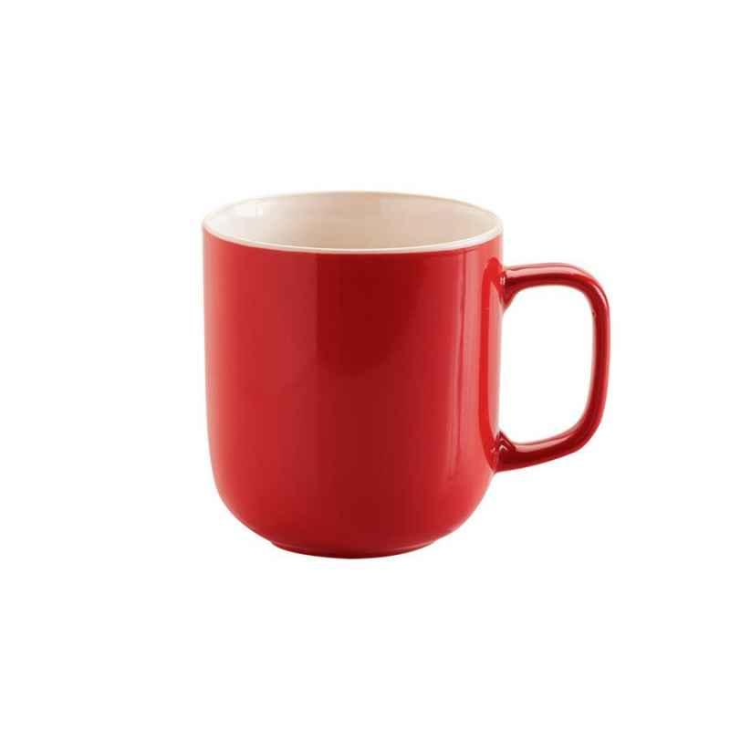 Tasse 450 ml aus Steingut, rot