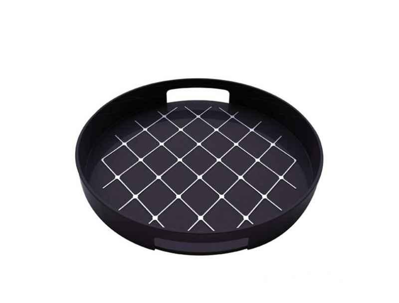 tablett rund great tablett rund deko stern design metall. Black Bedroom Furniture Sets. Home Design Ideas