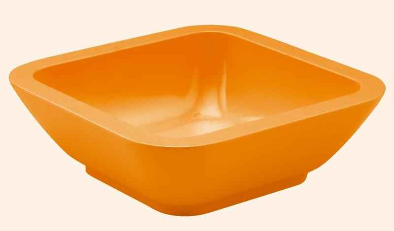 Seaside Schale eckig 15 cm orange