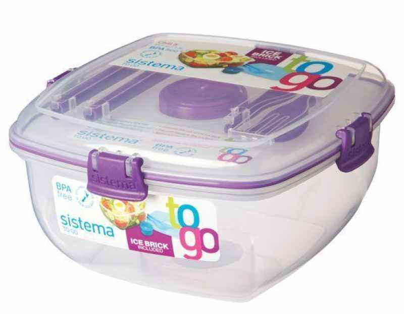 Lunchbox + Kühlelement 1,3 l lila