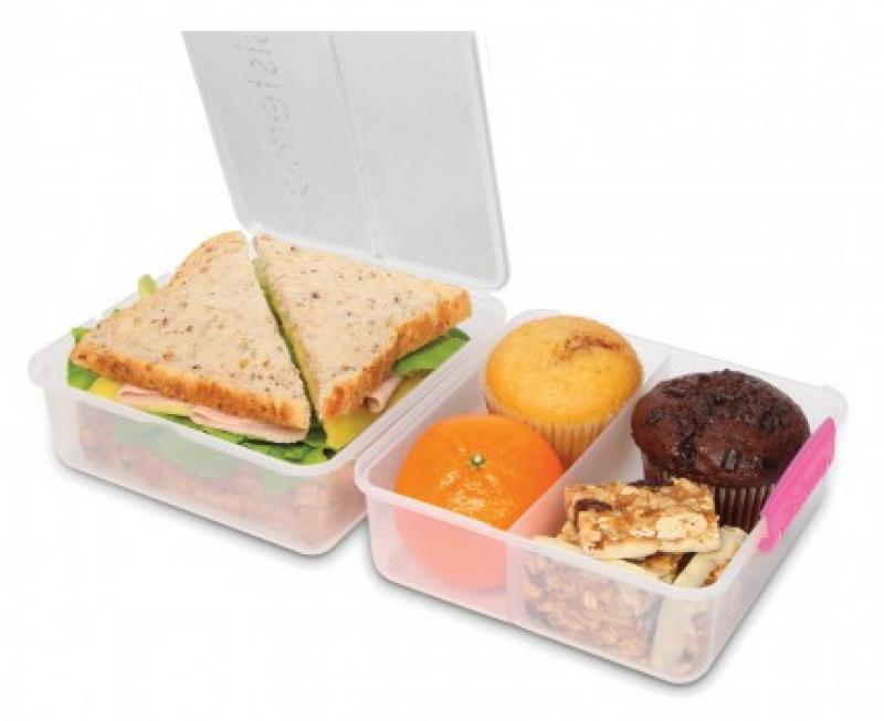 Lunch Cube To Go untert. 1,4l transparent-pink