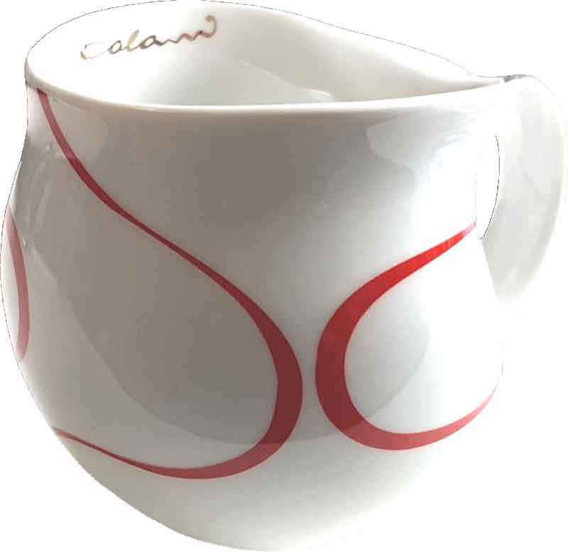 Colani Kaffeebecher Loop red