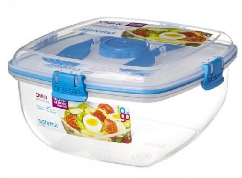 Lunchbox + Kühlelement 1,3 l blau