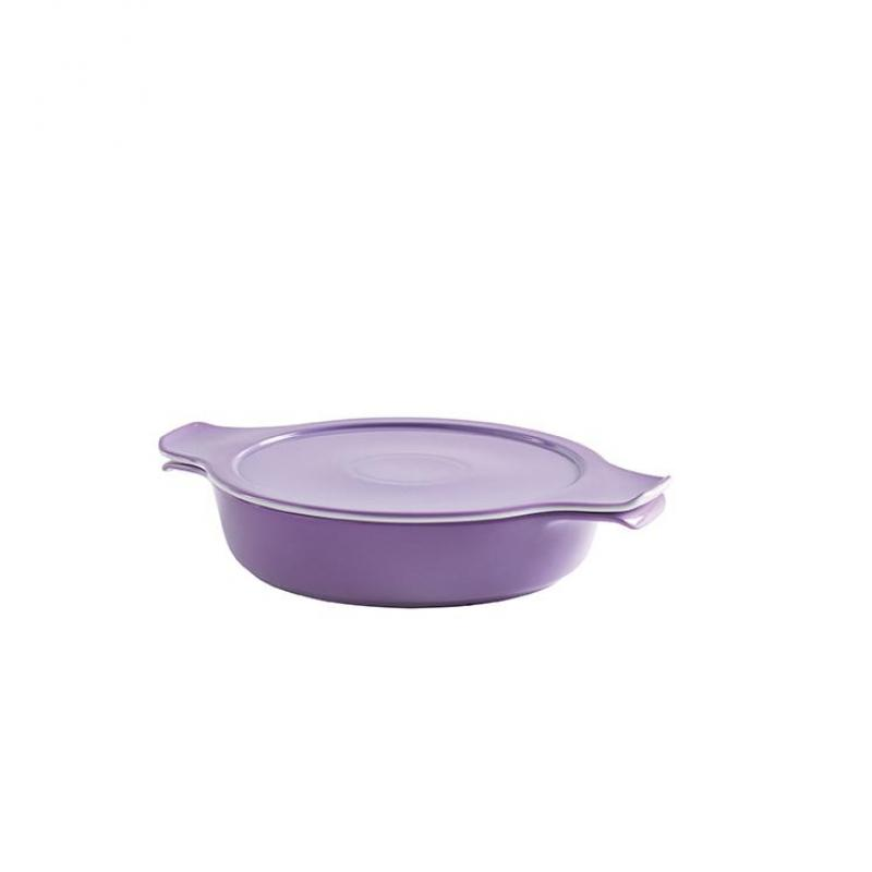 COOK & SERVE Schmor- & Servierschale mit Deckel 1,20 l / 24 cm lavendel