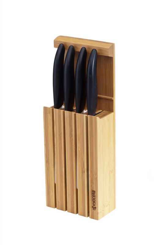 Bamboo Messer Block mit 4 GEN Black Messern