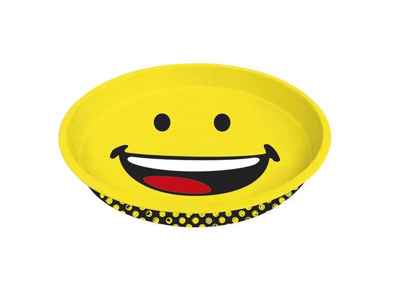 smiley emoticon gl cklich h ppchen tablett rund 33 cm glas und keramik shop. Black Bedroom Furniture Sets. Home Design Ideas