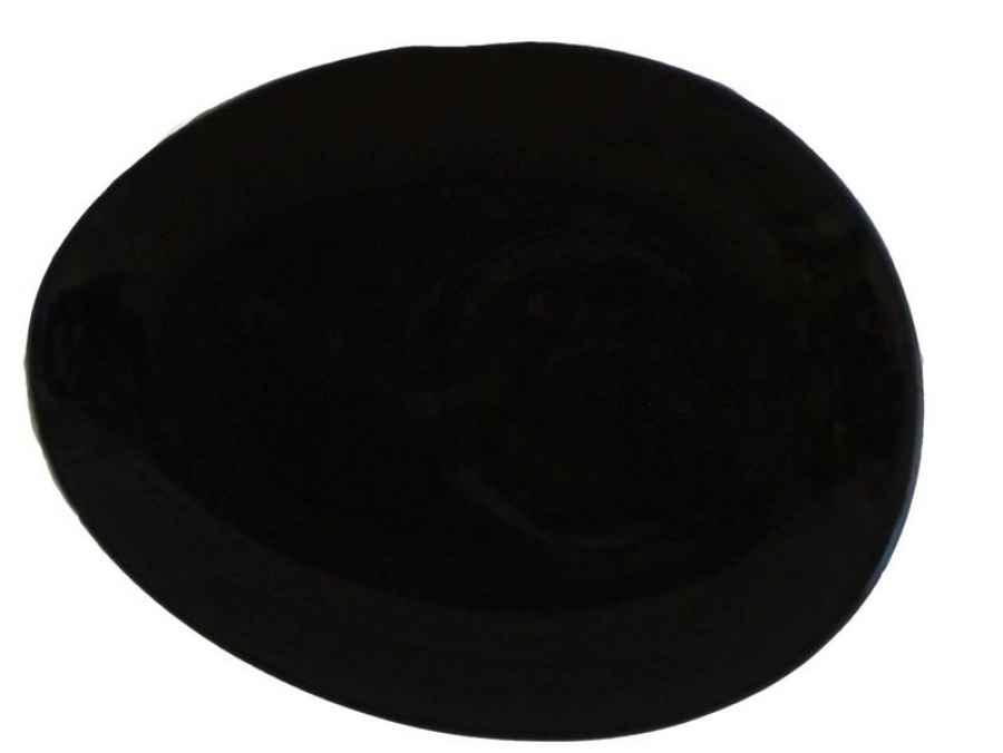 luigi colani teller schwarz oval top preis glas und. Black Bedroom Furniture Sets. Home Design Ideas