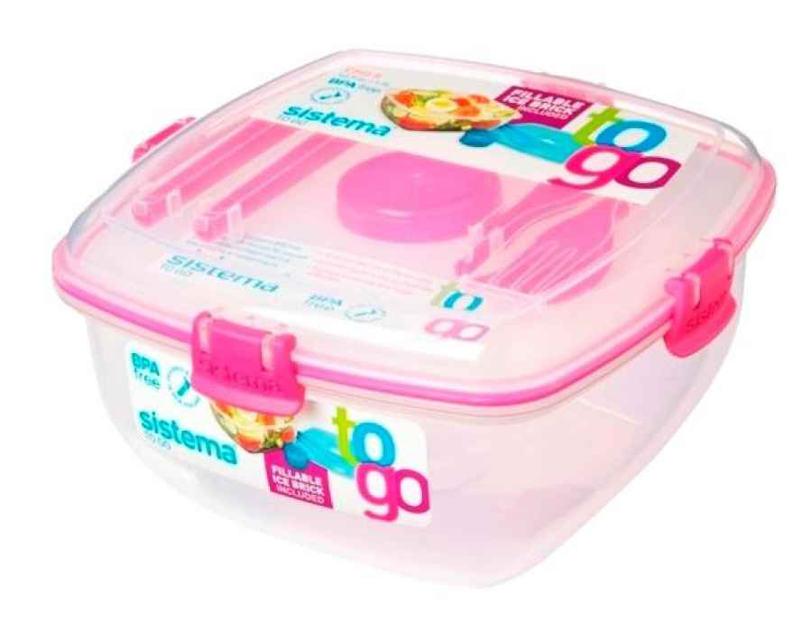 Lunchbox + Kühlelement 1,3 l pink
