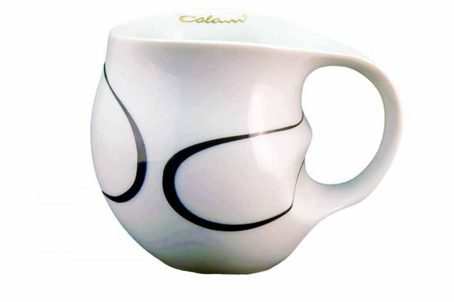 Colani Kaffeebecher Loop black