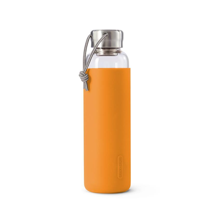 Wasserflasche 600 ml Glas Orange
